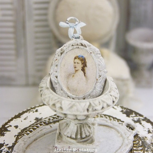 Cadre Oval Miniature en Métal