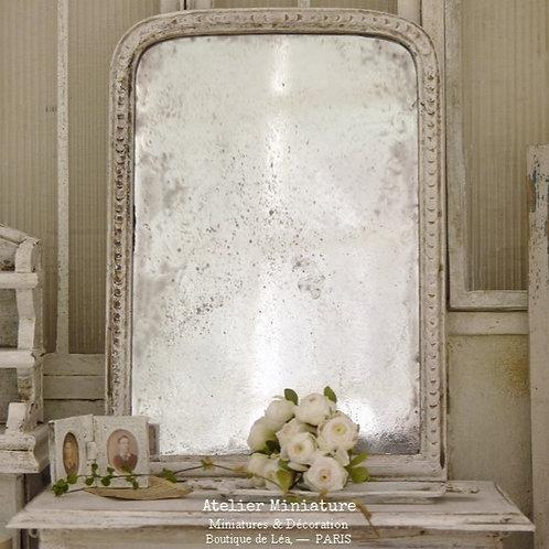 Miroir Vieilli Miniature, Structure en Résine, Échelle 1/12