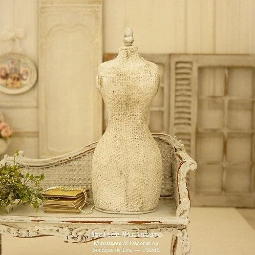 Buste Mannequin de Couture Miniature, Maison de Poupée, Échelle 1/12