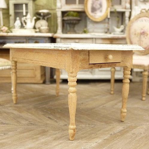Table Rectangulaire Miniature, Mobilier en Bois