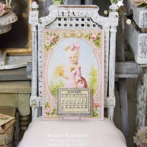 Calendrier Victorien 2021 Miniature, Marie-Antoinette, Maison de Poupée