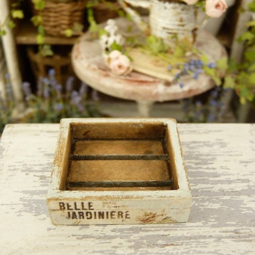 Cagette Miniature en Bois, Vert d'Eau, Maison de Poupée, Échelle 1/1