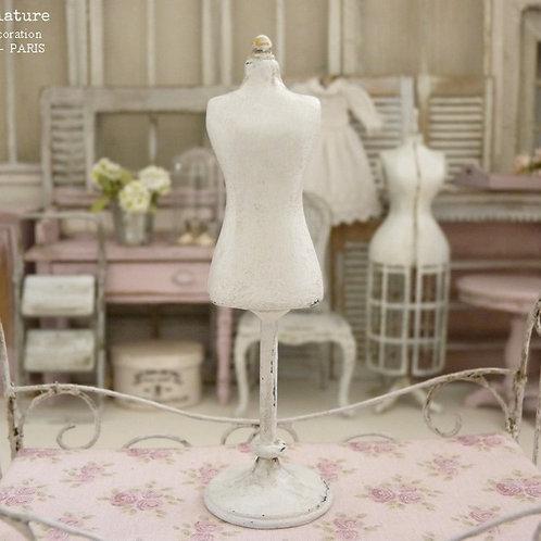 Mannequin buste, Miniature en résine, Blanc Shabby, Accessoire de Mode Enfant