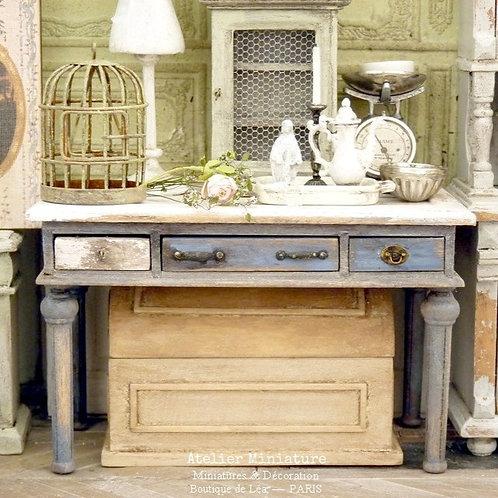 Table Rectangulaire Miniature, Mobilier en Bois, Meuble de Poupée