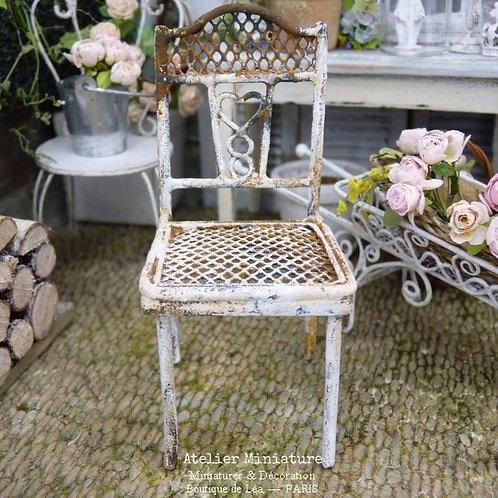 Chaise de Jardin en Métal Rouillé