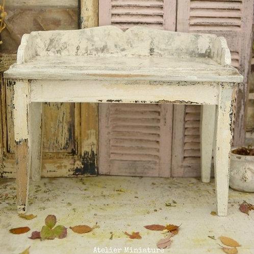 Table de Toilette Miniature, Imitation Marbre, 1/12