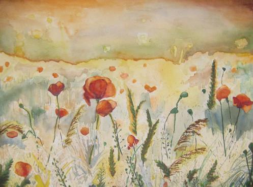 "Medium: Watercolor Size: 11""x14"""