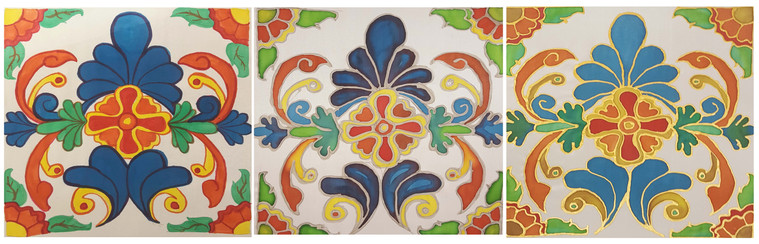 Silk Painting Technique Samples