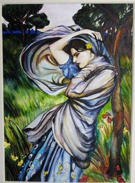"Interpretation of ""Boreas"" by John William Waterhouse"