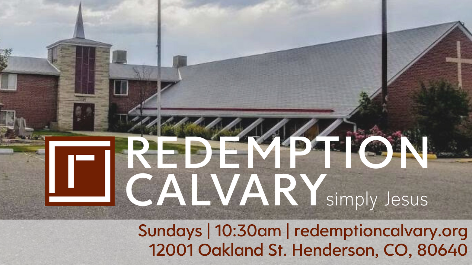 Join us Sundays at 10:30am