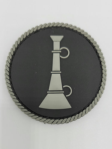 "2""x2"" Lieutenant, black and gray"
