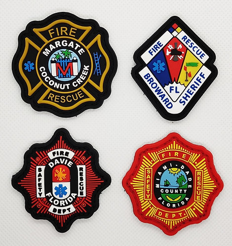 """2"""" x 2"""" Custom Department PVC Rubber Patches"""