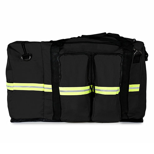 Turnout Gear Bag w/ Detachable SCBA Mask Bag, Black