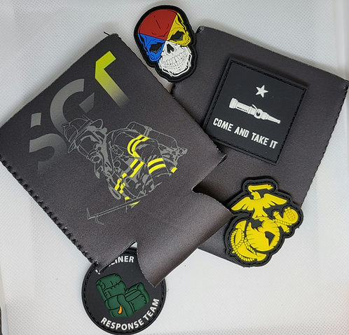 Sgt Fire Velcro Patch Coozie