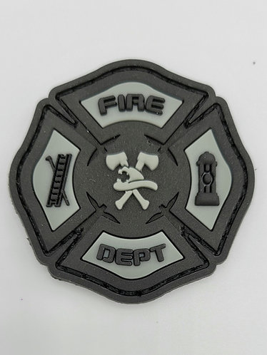 "2""x2"" FIRE DEPT, black and gray patch"