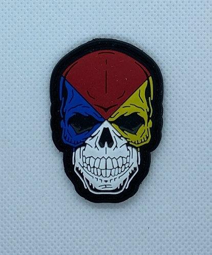 """2""""x 2"""" HAZMAT Skull"""