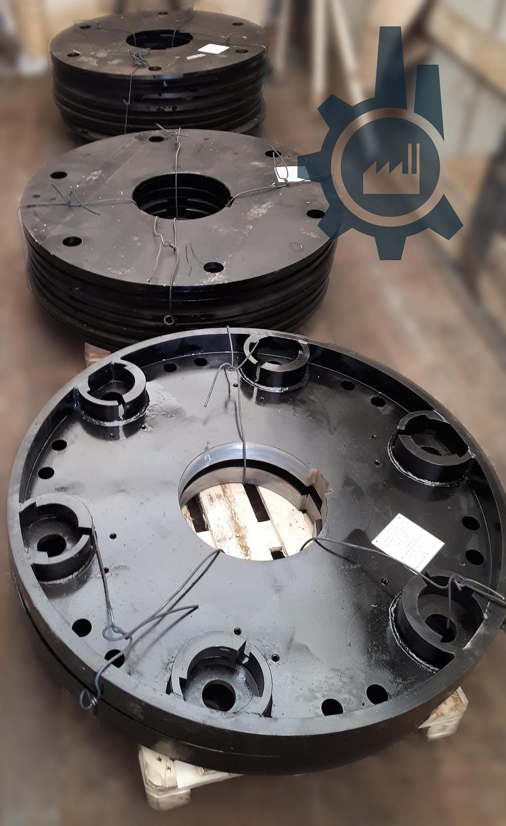 Диски средние и крайний ротора молотковой дробилки