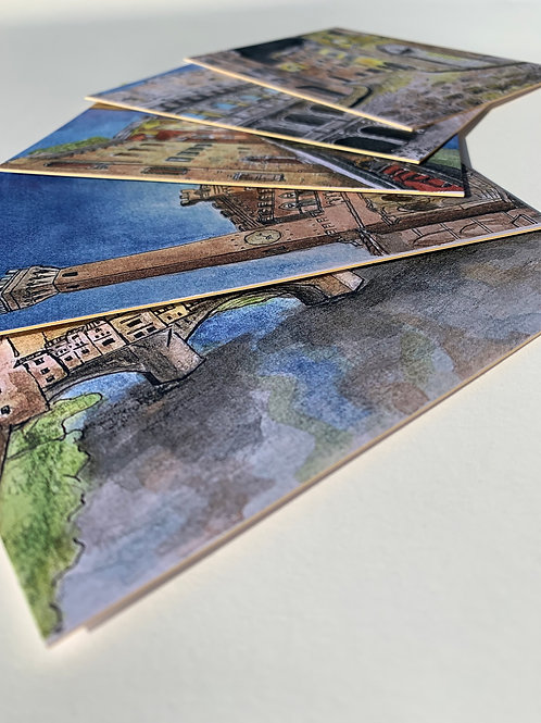 'Watercoloured Italy' Postcard Pack