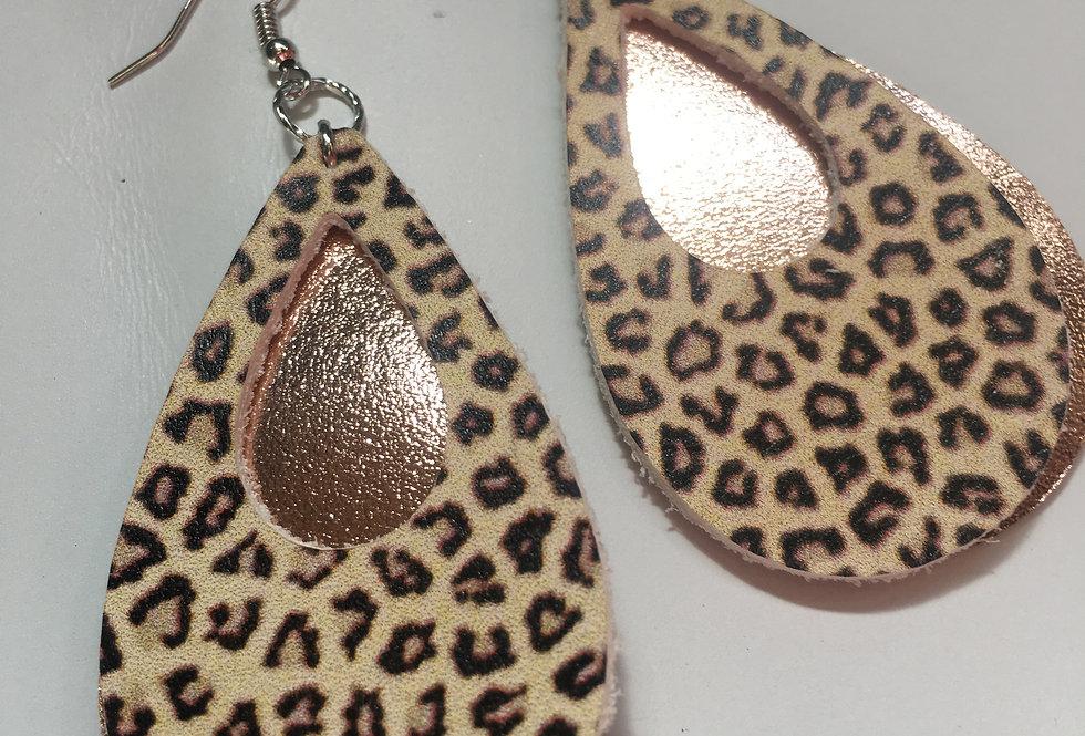 Cheetah Rose gold earring