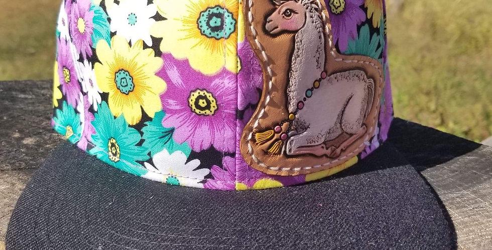 Floral Llama Hat