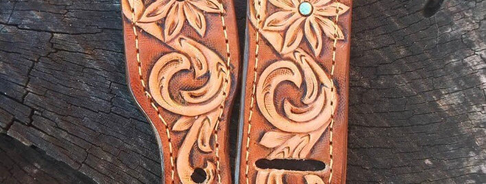 Tooled Floral Apple Watch Band