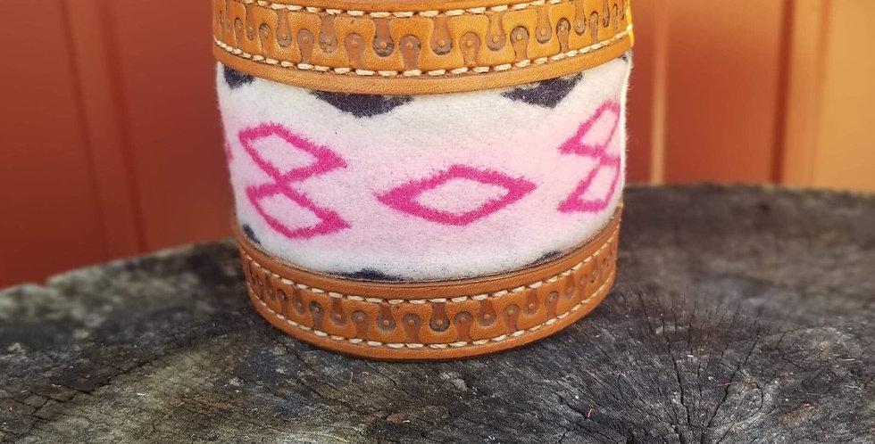 Pink Pendleton Wool Yeti/Tumbler Cuff