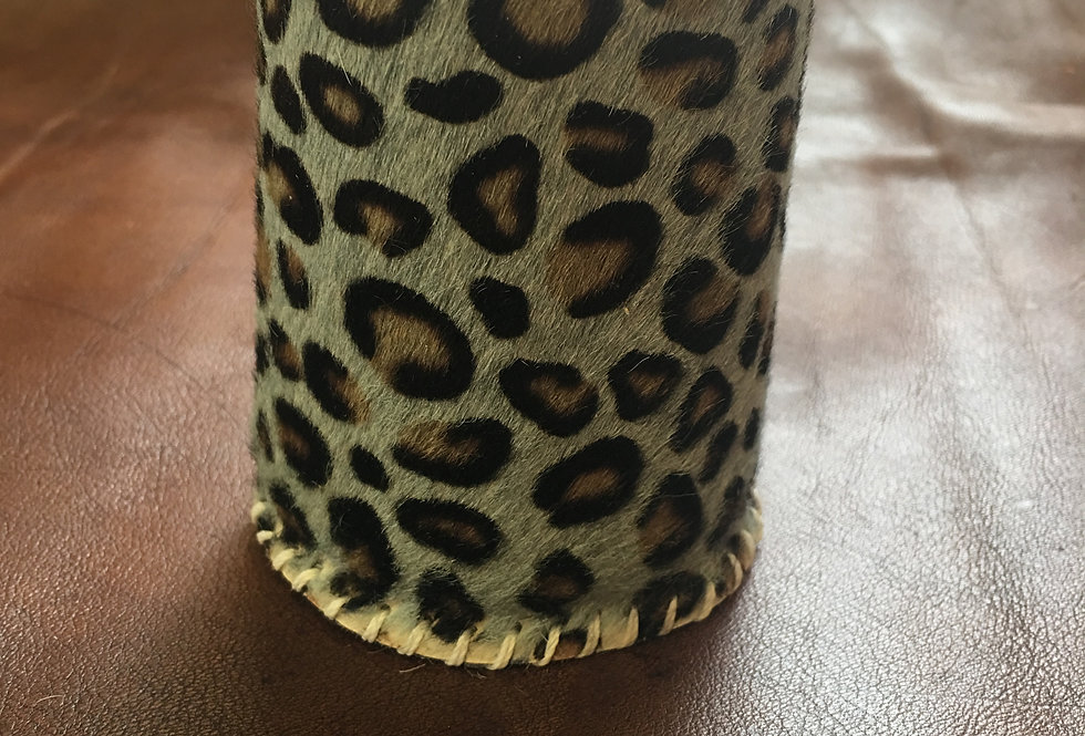 Cheetah Print Hair On Koozie