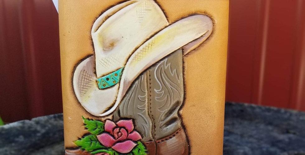 Floral Cowboy Boot Flask - Hat