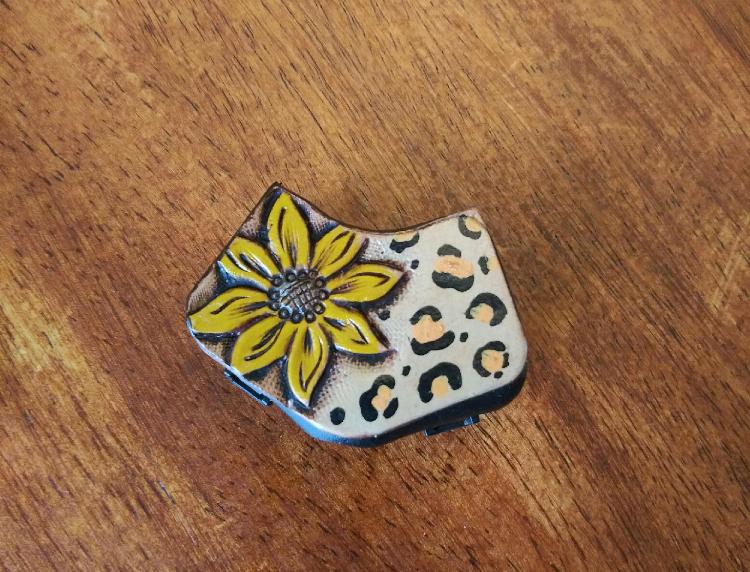 Cheetah Sunflower Stethoscope Yoke