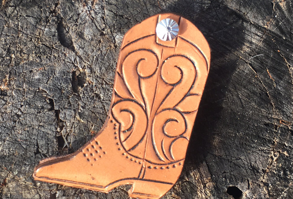 Tooled Boot Key Case