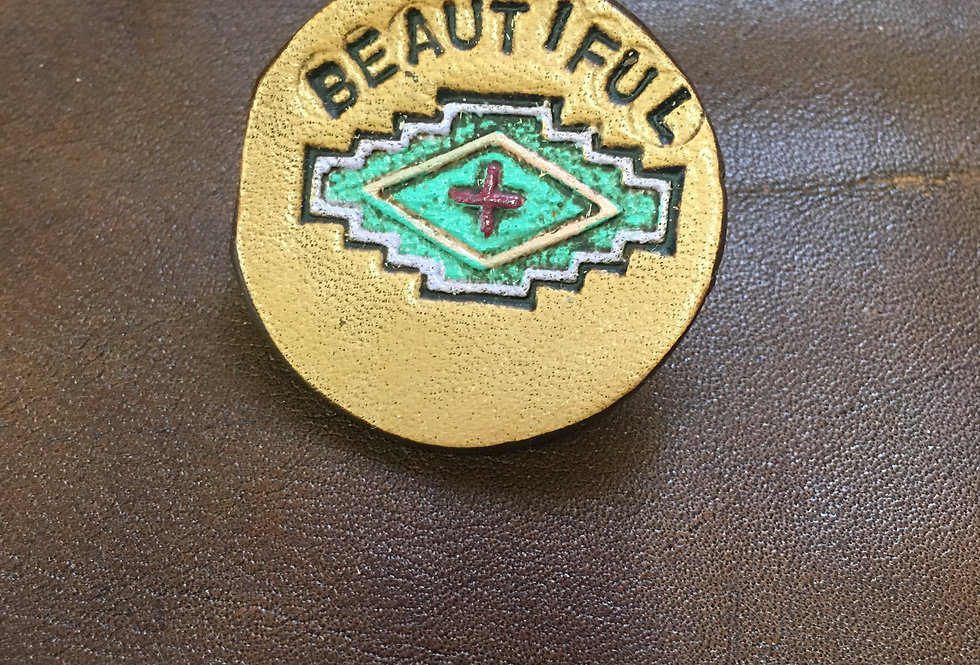 Beautiful Aztec Hat Pin small