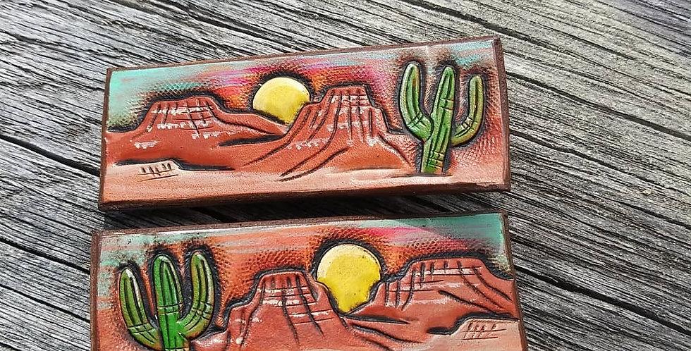 Cactus Sunset Hair Clip Set Of 2