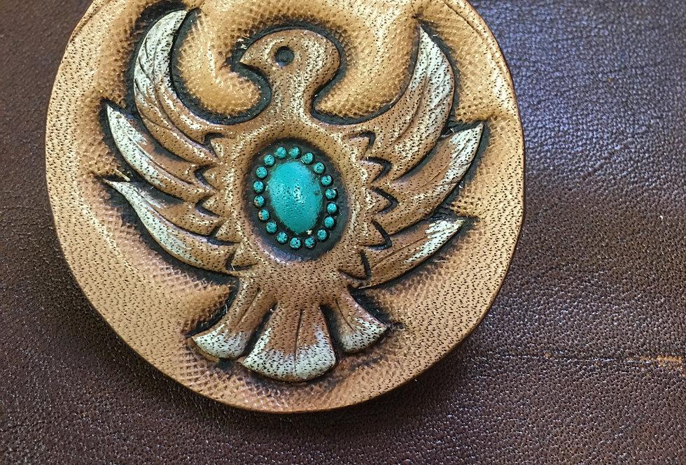 Turquoise Thunderbird Hat Pin Large