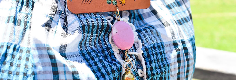Floral Bar necklace with Tassle