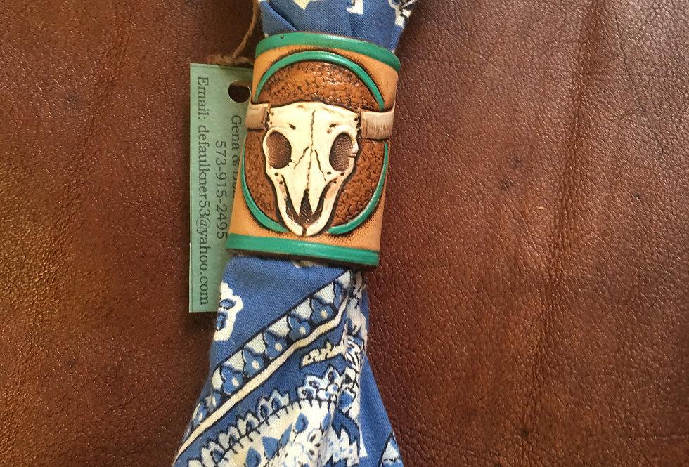 Steer Turquoise wild rag slide
