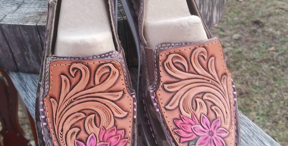 Tooled Floral Ariats