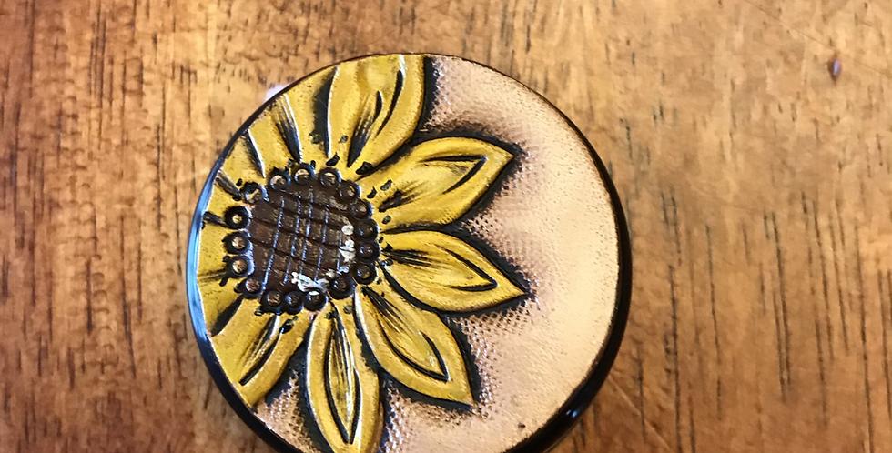 Sunflower Stethoscope ID Tag