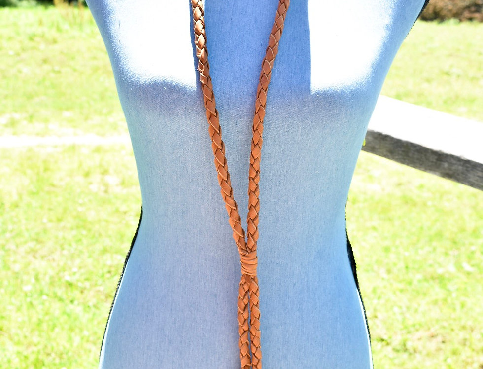 Braided Deer skull Necklace