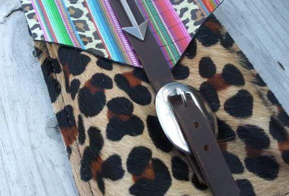 Cheetah Serape Back Cinch Saddle Pouch