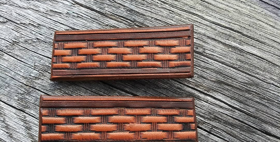 Leather Hair Clips Set of Two