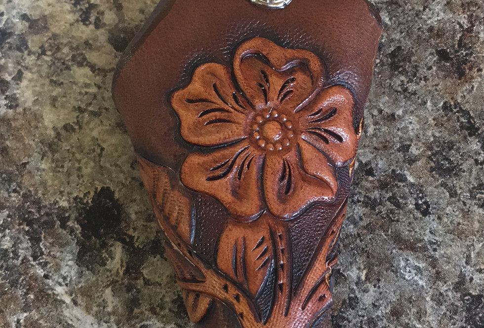 Floral Dark Key Case