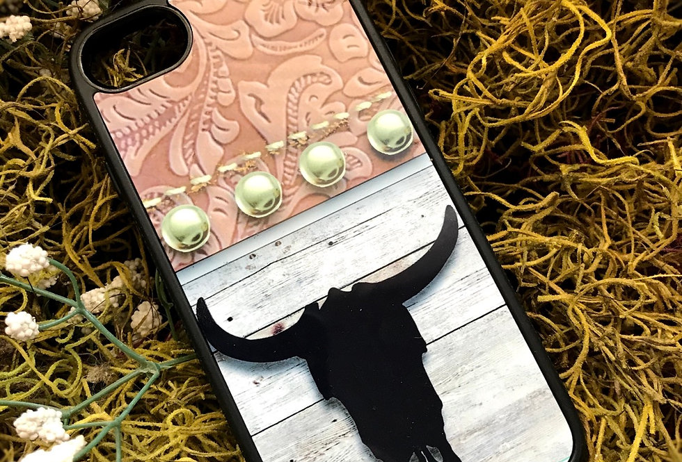 Steerskull Leather Phone Case