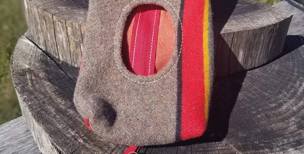 Red Striped Pendleton Wool Wipes Case