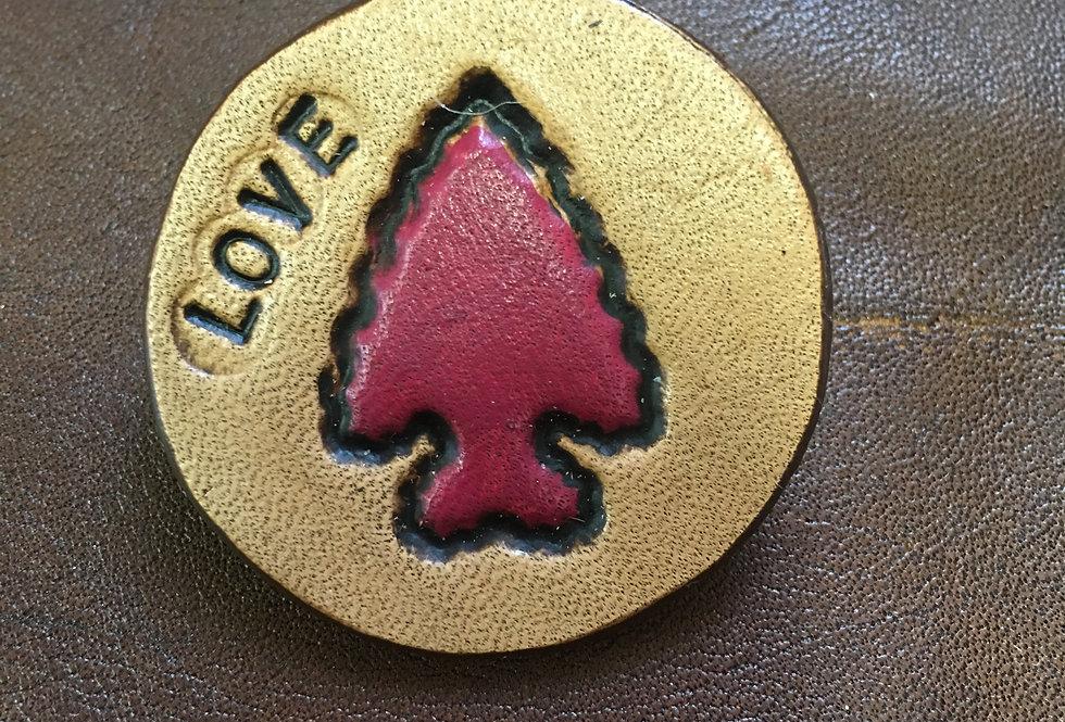 Arrowhead Love Hat Pin Small