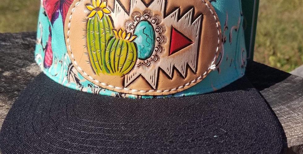 Turquoise Cactus Hat