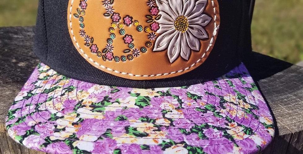 Purple Peace Floral Hat