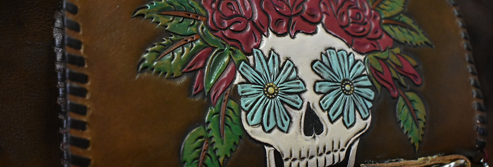 Floral Skull Wallet