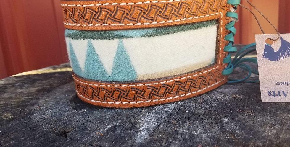 Blue Pendleton Wool Yeti/Tumbler Cuff