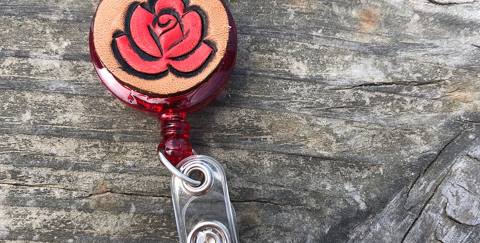 Red Rose Badge Reel