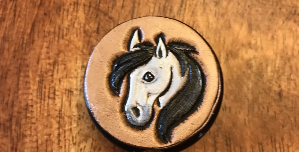 Buckskin Horse stethoscope tag